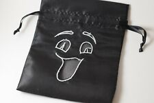 Black Ghostly Gift Bag Large Game Dice Bag w/ White Counter Pouch Taffeta Scary