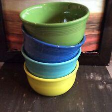 Fiesta Fiestaware Lot of 4 Gusto Bowls, Mixed Color Set