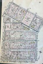 ORIG 1912 PS 288, CORLEARS HOOK PARK, LOWER EAST SIDE, MANHATTAN, NY ATLAS MAP