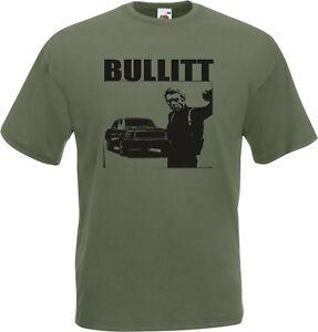 Steve McQueen Bullitt T-Shirt - Various Colours, S-XXL