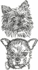 Norwich Terrier Dog Breed Personalize Embroidered Fleece Stadium Blanket Gift