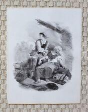 Lithographie Originale XIX ème par Célestin Nanteuil - Circa 1850