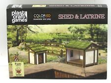 Plast Craft Games FK037 Shed & Latrine (ColorED) Fukei Kensei Terrain Scenery