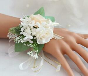 Rose Boutonniere~Corsage~Ivory off~Groom~Best man~men~Prom~Wedding~Quinceanera