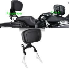 Adjustable Driver Passenger Backrest Mount For Harley Touring Road King 14-20