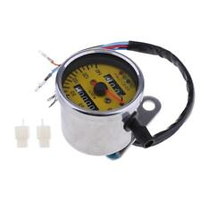 60mm Yellow Face Mechanical Motorcycle LED Speedometer Gauge with Indicator