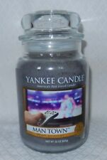 YANKEE CANDLE MAN TOWN  LARGE JAR 22 OZ CANDLE BRAND NEW! HARD TO FIND
