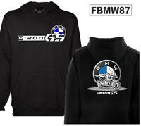 Felpa cappuccio moto personalizzata Bmw R1200 GS hoodie sweatshirt FBMW87