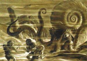 Postcard Ray Harryhausen Mysterious Island: Giant Octopus Natl Galleries Scotlnd