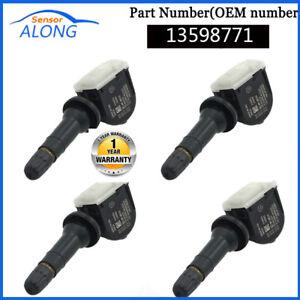 4PCS New 13598771 Fit GM Buick Cadillac Chevy Original TPMS Tire Pressure Sensor
