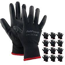 Faitpouru Polyurethane Pu Coated Safety Work Gloves 12 Pairs Bulk Packseamle
