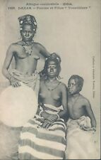 French West Africa SENEGAL semi nude Toucouleur women ethnic PC 1910s