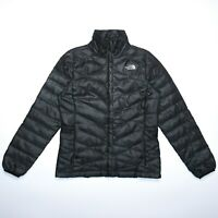 The North Face Women's Grey Down 550 Puffer Windbreaker Jacket Size Small
