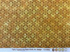 fabri-quilt - 'fall's Tapicería' Dorado Mezclador Tejido - 100% cotton- by 0.25m