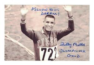 Billy Mills Signed Autographed 4x6 Photo Olympic Track & Field Gold Medal
