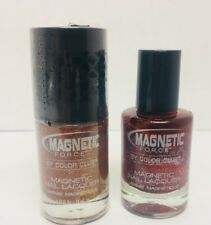 2x Magnetic Force Color Club Nail Polish Nail Lacquer - Power Trip / Buzz Worth