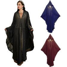 Dubai Abaya Moroccan Kaftan Muslim Women Farasha Kimono Maxi Dress Gown Jilbab
