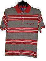 Vintage Champion Washington University Men's Striped Short Sleeve Polo Shirt Med