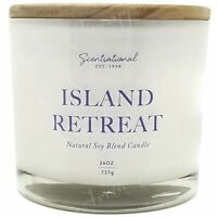 Scentsational Soy Blend Wax 26oz Cotton 3 Wick Large Candle - Island Retreat