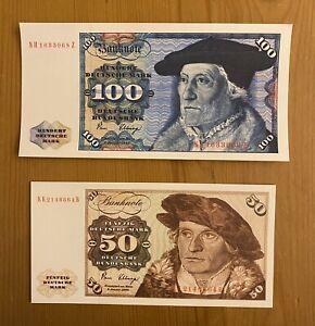 """Spielgeld """"D-Mark Scheine"""", 100 DM und 50 DM im 2er Set - Neu !"""