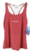 Marika Womens Ladies Red Polka Dot Sleeveless Tank Top Size M NEW