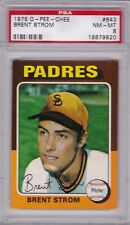 1975 OPC #643 BRENT STROM PSA 8 NM/MT o-pee-chee tough! San Diego PADRES