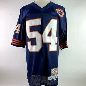 Brian Urlacher Chicago Bears Players Of The Century 54 Blue Jersey Size XL 52 B3