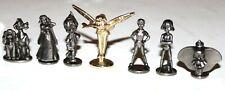 Monopoly Disney Edition Tokens Set of 8 Gold Tinkerbell Peter Pan Dumbo Princess