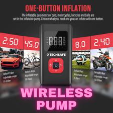 TechSafe Tire Inflator Car Air Pump Compressor Electric Tire Pressure Tester NEW