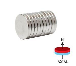 50 x Circular Disc Utility Magnets 12mm x 3mm Fridge