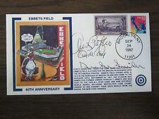 Andy Pafko & Clide King & Duke Snider Autograph / Signed Cachet / Envelope