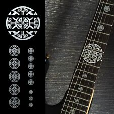 Emblem Guitar Fret Markers Set In Metallic Inlay Sticker Decal
