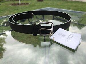 $545 NWT Brunello Cucinelli Smoke Gray Suede Mens Belt 95/38