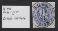 """Preußen - 1862, MiNr. 17, 2 Sgr. Stempel """"SUHL / 5 8 67 / 3-4 N."""" bitte ansehen."""