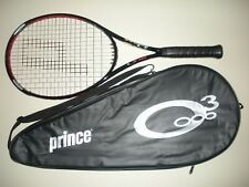 PRINCE O3 RED MP 105 TENNIS RACQUET 4 1/2  (NEW STRINGS)