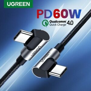 UGREEN USB C to USB C 90 Angle 60W 3A FastCharger 4.0 Cable For Samsung ipad pro