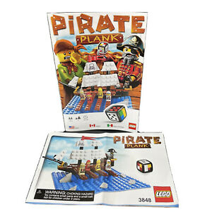 Game Parts Pieces LEGO Pirate Plank #3848 Rules Building Instructions Only