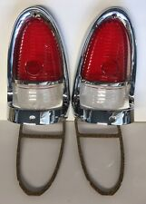LED 1955 Chevrolet RED LED Tail Light Lens Bezels KIT 10 pc Bel Air FREE SHIP
