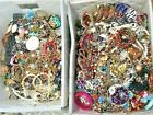 FULL 5 POUNDS Vintage Now Jewelry Junk Craft Box Brooch Necklace Pirates Chest