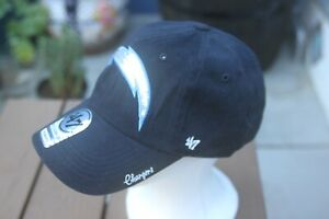 Los Angeles Chargers '47 Brand Glitter Embroidered Bolt Logo StrapBack Hat NWT