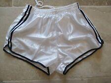 Short vintage nylon 80'S blanc shinny brillant satin sport 100 XL