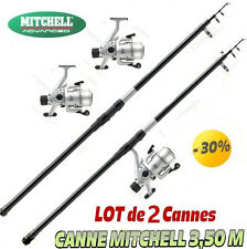 canne a peche, MER, TELESCOPIQUE 3.50 M, MITCHELL brochet  carnassier, LOT x 2