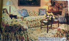 NEW & VINTAGE 1986 VOGUE TAILORED/SHABBY CHIC SLIPCOVER HOME DECOR PATTERN 1711