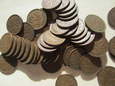Set of 4 Rolls of 1944, 1945, 1946, 1947 Canada Small Cents (200 Coins)