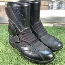UK9 OXTAR Water Resistant Leather Padded Motorbike Boots - EU43