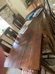 dining room table and 10 chairs
