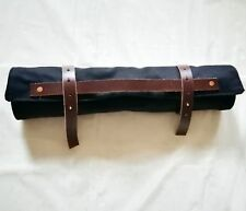 6 Pocket Japanese Chef's Knife Roll Bag Canvas Leather Knife Carry Case Wallet