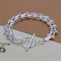 ASAMO Damen Armband Gliederkette 925 Sterling Silber plattiert Schmuck A1296