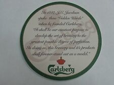 BEER COASTER ~<^>~ CARLSBERG Brewery ** Add'l Coasters Only $0.25 S&H Worldwide