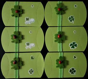 6 Boxen Geschenkschachtel, Kissenschachtel, Viel Glück.